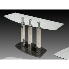 Buy Chintaly Imports Cilla 48x18 Rectangular Sofa Table in Satin Silve on sale online