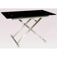 Buy Chintaly Imports Sherry 48x30 Square Glass Coffee Table in Chrome on sale online