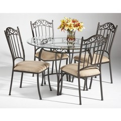 Buy Chintaly Imports 5 Piece Round 48x48 Table Set in Taupe on sale online