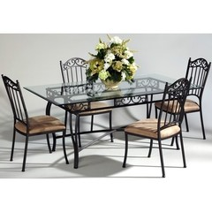 Buy Chintaly Imports 5 Piece 72x42 Rectangular Table Set on sale online