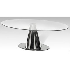 Buy Chintaly Imports Tamara 50x32 Coffee Table in Satin Silver on sale online