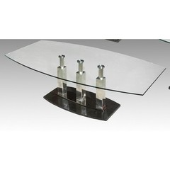 Buy Chintaly Imports Cilla 52x28 Rectangular Coffee Table in Satin Silver on sale online