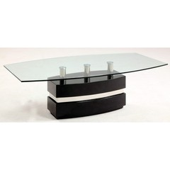 Buy Chintaly Imports Xenia 52x28 Coffee Table in Gloss Black on sale online