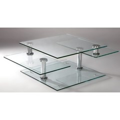 Buy Chintaly Imports 52x32 Maddox Cocktail Table in Chrome on sale online
