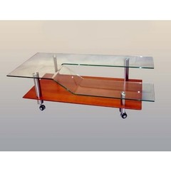 Buy Chintaly Imports 55x28 Rectangular Cocktail Table in Cherry on sale online