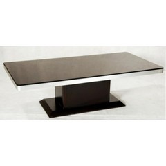 Buy Chintaly Imports Monique 55x28 Rectangular Coffee Table in Merlot Wood on sale online