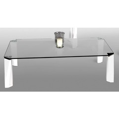 Buy Chintaly Imports 56x32 Rectangular Wintec Coffee Table in White on sale online