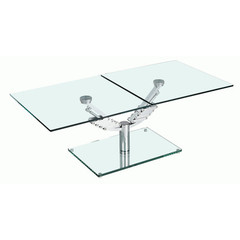 Buy Chintaly Imports 58x24 Ricci Coffee Table w/ Glass Base on sale online