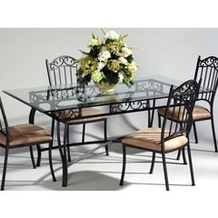 Buy Chintaly Imports 72x42 Rectangular Table w/ Glass Top on sale online