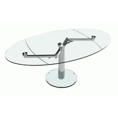 Buy Chintaly Imports 78x43 Expandable Dining Table w/ Glass Top on sale online