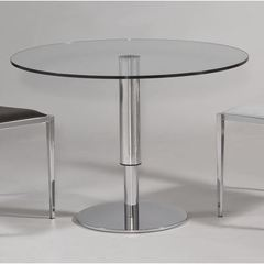 Buy Chintaly Imports 38x38 Round Hi-Low Dining Table in Chrome on sale online