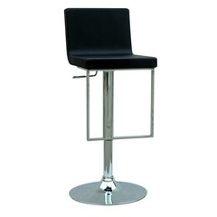 Buy Chintaly Imports Adjustable Height Swivel Stool w/ Pneumatic Gas Lift in Black on sale online