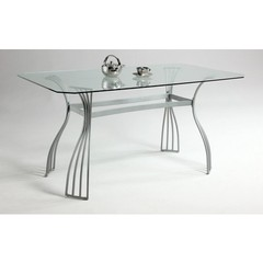 Buy Chintaly Imports Aileen 60x36 Dining Table w/ Glass Top on sale online
