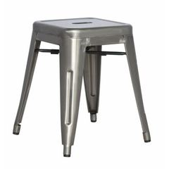 Buy Chintaly Imports Alfresco 18 Inch Backless Cold Roll Steel Side Chair in Grey on sale online