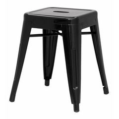 Buy Chintaly Imports Alfresco 18 Inch Backless Galvanized Steel Side Chair in Black on sale online