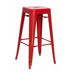 Buy Chintaly Imports Alfresco 30 Inch Backless Galvanized Steel Barstool in Red on sale online