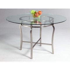 Buy Chintaly Imports Angelina 48x48 Round Dining Table w/ Glass Top on sale online