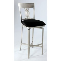 Buy Chintaly Imports Angelina Swirl Back Memory Swivel Bar Stool on sale online