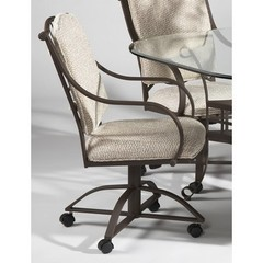 Buy Chintaly Imports Anita Wrought Iron Caster Swivel Tilt Arm Chair on sale online