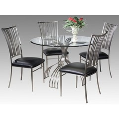 Buy Chintaly Imports Ashtyn 5 Piece 48 Inch Round Dining Table Set on sale online