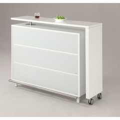 Buy Chintaly Imports Barclay 54x18 Extendable L-Board Bar in White on sale online
