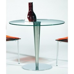 Buy Chintaly Imports Bowery 36x36 Round Dining Table w/ Glass Top on sale online