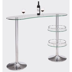 Buy Chintaly Imports Canal 56x22 Bar w/ Kidney Shape Glass Top on sale online