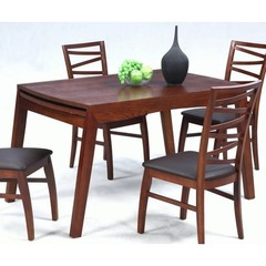 Buy Chintaly Imports Cheri 48x34 Solid Oak Dining Table w/ Extension Leaf on sale online
