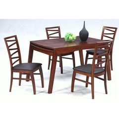 Buy Chintaly Imports Cheri 5 Piece 48x34 Solid Oak Dining Table Set on sale online