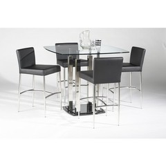 Buy Chintaly Imports Cilla 5 Piece 42x42 Square Counter Height Set on sale online