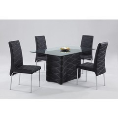 Buy Chintaly Imports Connie 5 Piece 59x35 Dining Table Set in Black on sale online