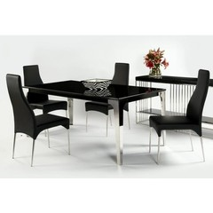 Buy Chintaly Imports Crystal 5 Piece 75x37 Dining Table Set on sale online