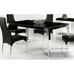 Buy Chintaly Imports Crystal 75x37 Dining Table w/ Marble Top on sale online