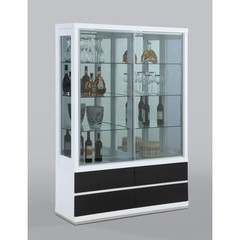 Buy Chintaly Imports Curio Cabinet w/ 2 glass doors and 4 drawers on sale online