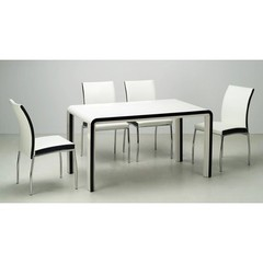 Buy Chintaly Imports Dahlia 5 Piece 54x31 Parson Dining Table Set on sale online