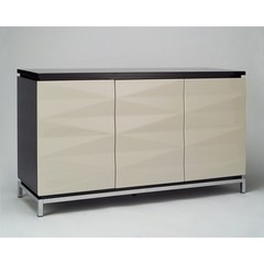 Buy Chintaly Imports Dahlia High Gloss Laquer Buffet in Black and Beige on sale online
