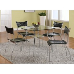Buy Chintaly Imports Daisy 5 Piece 33 Inch Square Dining Table Set on sale online