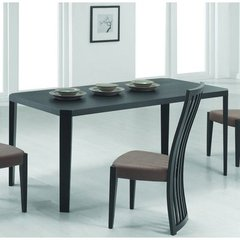 Buy Chintaly Imports Debbie 71x36 Dining Table in Black on sale online