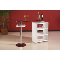 Buy Chintaly Imports Delancey 59x18 Contemporary Bar w/ Glass Top on sale online