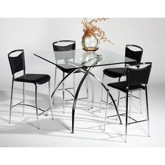 Buy Chintaly Imports Elaine 5 Piece 42x42 Square Pub Table Set on sale online