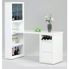 Buy Chintaly Imports Essex 63x25 Bar w/ Wine Rack and 4 Drawers on sale online