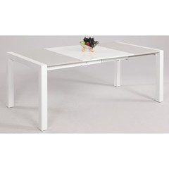 Buy Chintaly Imports Gina 39x39 Inch Lacquer Parson Extendable Dining Table on sale online