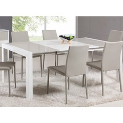 Buy Chintaly Imports Gina 5 Piece 39x39 Lacquer Parson Extendable Dining Table Set on sale online