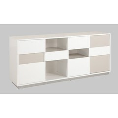 Buy Chintaly Imports Gina Contemporary 2 Tone Buffet w/ Open Storage on sale online