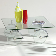 Buy Chintaly Imports Glass Caster 40x40 Cocktail Table on sale online