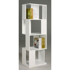 Buy Chintaly Imports Hana 71 Inch Modern Book Shelf in White on sale online