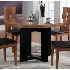 Buy Chintaly Imports Irene 47x47 Round Modern Dining Table on sale online