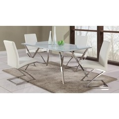 Buy Chintaly Imports Jade 5 Piece 61x35 Dining Table Set w/ Z Frame Side Chairs on sale online