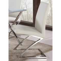 Buy Chintaly Imports Jade Z Frame Contemporary Side Chair on sale online