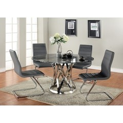 Buy Chintaly Imports Janet 5 Piece 53 Inch Round Dining Table Set on sale online